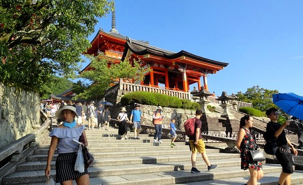 Stairs at the Entrance of Kiyomizudera Temple, Central Higashiyama, Kyoto, Japan