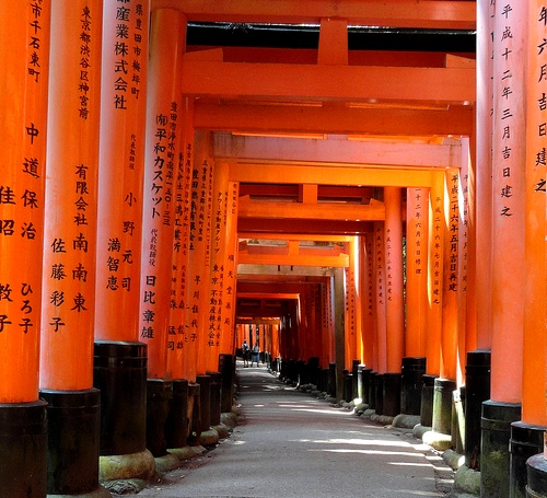 Torii, Fushimi Inari Shrine, Southern Kyoto, Japan