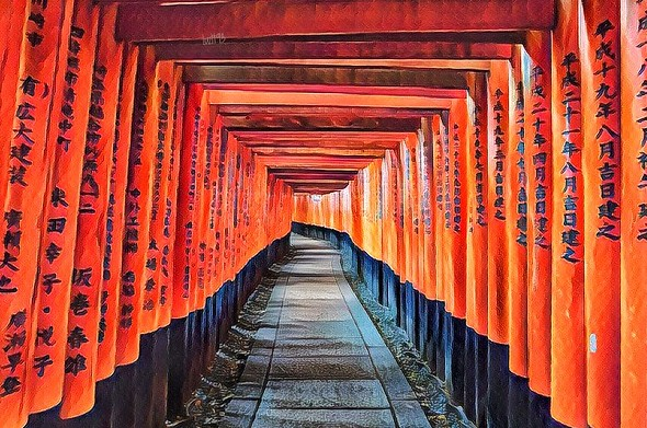 Visiting Fushimi Inari, Inari, South of Kyoto, Japan