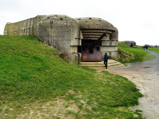 Batterie allemande de Longues-sur-Mer, Calvados, Basse-Normandie, France