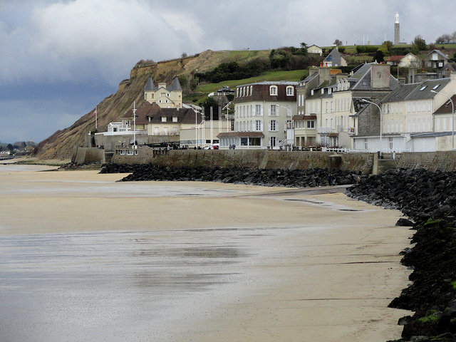 Beach, Arromanches, Calvados, Basse-Normandie, France