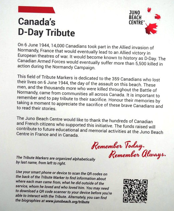 Canada's D-Day Tribute, Juno Beach Center, Juno Beach, Calvados, Basse-Normandie, France