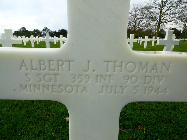 Grave, Normandy American Cemetery, Omaha Beach, Colleville sur Mer, Calvados, Basse-Normandie, France