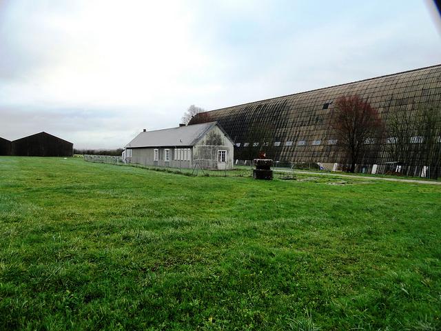 Le Hangar à Dirigeables d'Ecausseville, Sainte Mère Église, Calvados, Basse-Normandie, France