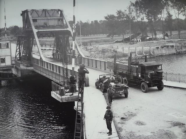 Pegasus Bridge, Mémorial Pegasus, near Ouistreham, Calvados, Basse-Normandie, France