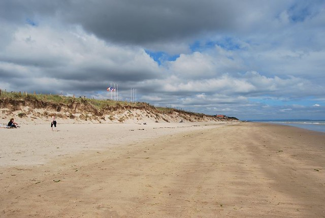Visiting Utah Beach, between Sainte-Marie-du-Mont and Saint-Martin-de-Varreville, Calvados, Basse-Normandie, France