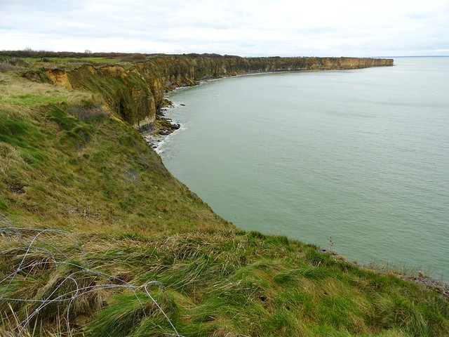 View from Pointe du Hoc, Cricqueville-en-Bessin, Calvados, Basse-Normandie, France