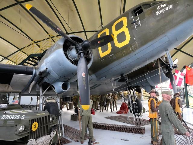 Visiting Airborne Museum, Sainte-Mère-Église, Calvados, Basse-Normandie, France