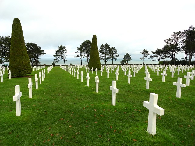 Visiting Normandy American Cemetery, Omaha Beach, Colleville-sur-Mer, Calvados, Basse-Normandie, France