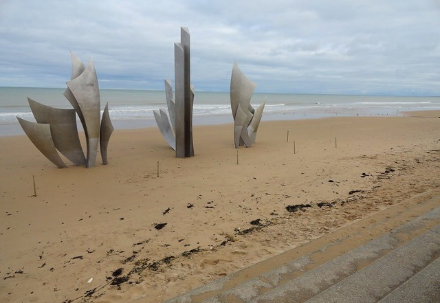 Visiting Omaha Beach, Calvados, Basse-Normandie, France