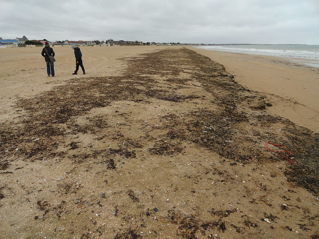 Walking on Sword Beach, Ouistreham, Calvados, Basse-Normandie, France