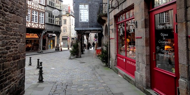 Centre Historique, Dinan, Côtes-d'Armor, Bretagne, France