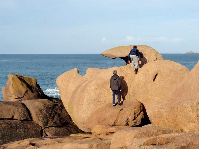 Curious Rock, Sentier des Douaniers, Ploumanac'h, Perros Guirec, Côtes-d'Armor, Bretagne, France