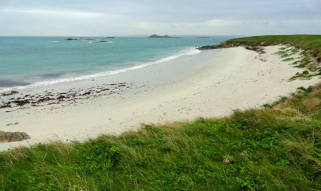 Great Beach on North-eastern Coast, Ile de Batz, Finistère, Bretagne, France