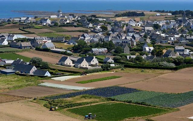 L'ile de Batz vue du Phare, Finistère, Bretagne, France