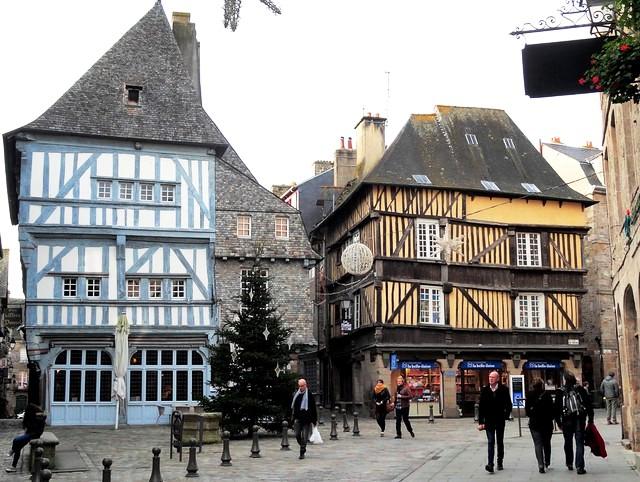 Maisons à Pans de Bois, Centre Historique, Dinan, Côtes-d'Armor, Bretagne, France