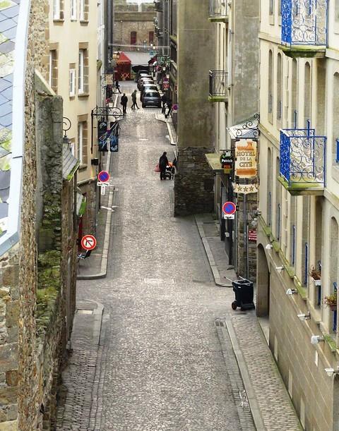 Petite Rue of Intra-Muros from les Remparts, Saint-Malo, Ille-et-Vilaine, Bretagne, France