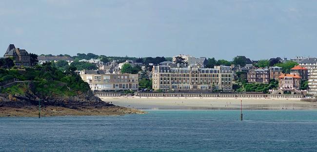 Plage de l'Écluse, Dinard, Ille-et-Vilaine, Bretagne, France