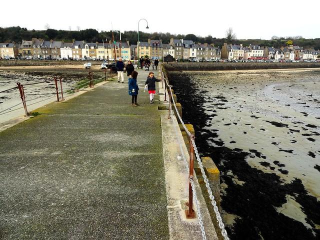 Port de la Houle from the Pier at Low Tide, Cancale, Ille-et-Vilaine, Bretagne, France