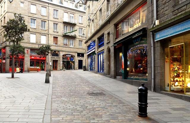 Rue Porcon de la Barbinais, Saint-Malo, Ille-et-Vilaine, Bretagne, France