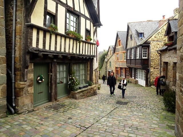 Rue du Jerzual, Dinan, Côtes-d'Armor, Bretagne, France