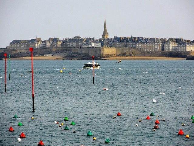 View of Saint-Malo from Dinard, Ille-et-Vilaine, Bretagne, France