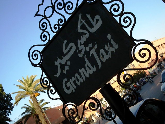 Grand Taxi Stand, Marrakech, Morocco