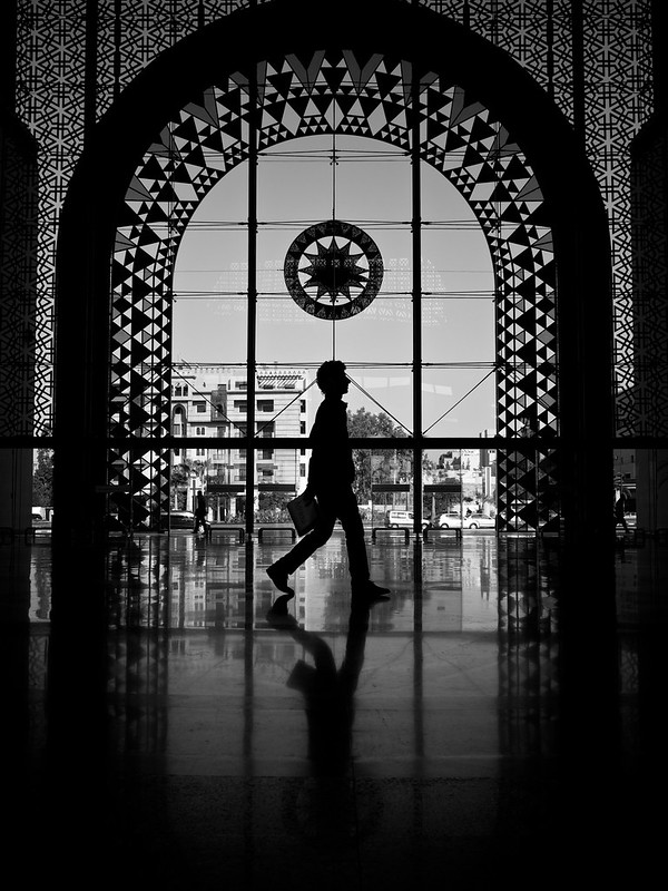 Walking Inside Marrakech Railway Station, Morocco