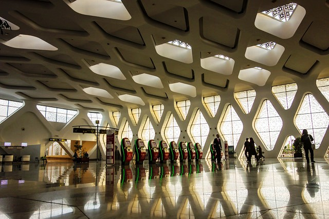 Inside the Terminal, Menara Marrakech International Airport, Morocco