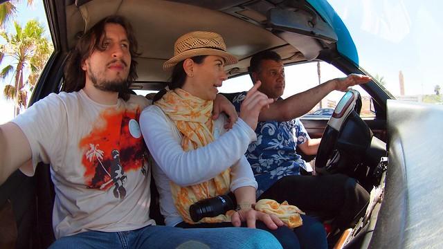 Riding a Petit Taxi, Casablanca, Morocco