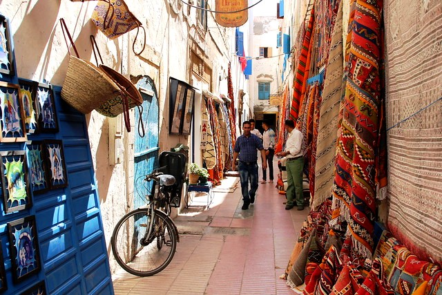 Walking in the Streets of Essaouira, Morocco