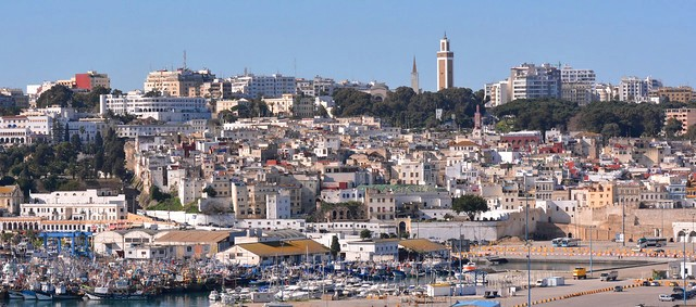 View of Tanger from a Boat Approaching the Old Port, Morocco