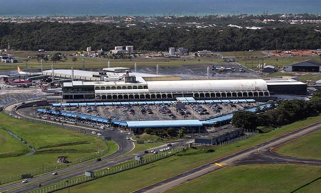 Aerial View of Salvador Bahia Airport, Salvador da Bahía, Brazil