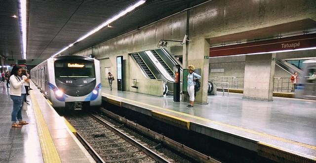 Tatuapé Subway Station at Midnight, São Paulo, Brazil
