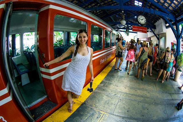 Trem do Corcovado, Estação Cosme Velho, Corcovado, Rio de Janeiro, Brazil