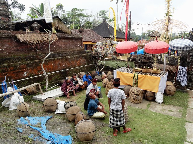 Cycling in Bali, a Festival in a Village in the Countryside, Indonesia