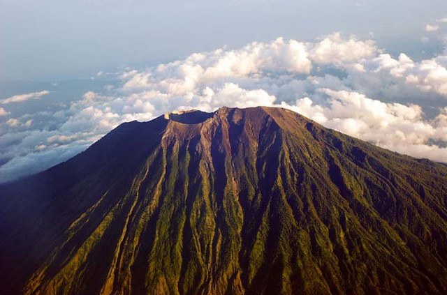 Gunung Agung Volcano from the Air, Bali, Indonesia