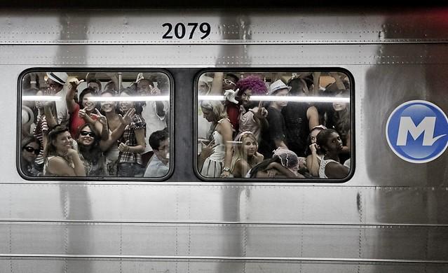 Metro in the Time of the Carnival, Rio de Janeiro, Brazil