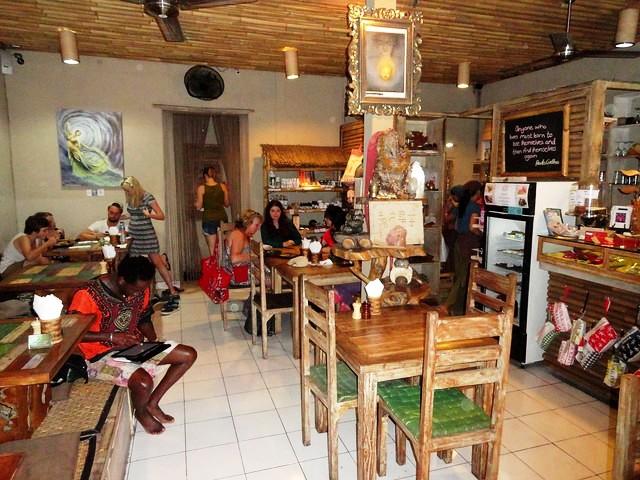 A Cafè Restaurant on Jalan Hanoman, Ubud, Bali, Indonesia