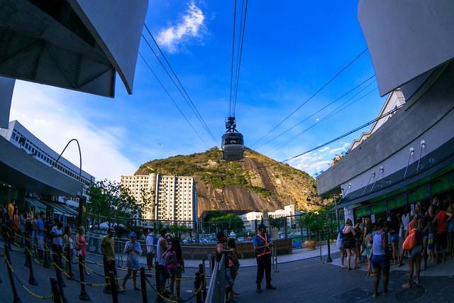 Praia Vermelha Cable Car Station, Urca, Rio de Janeiro, Brazil