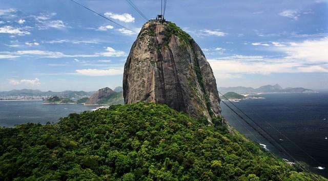 Riding the Cable Car to Sugarloaf, Rio de Janeiro, Brazil