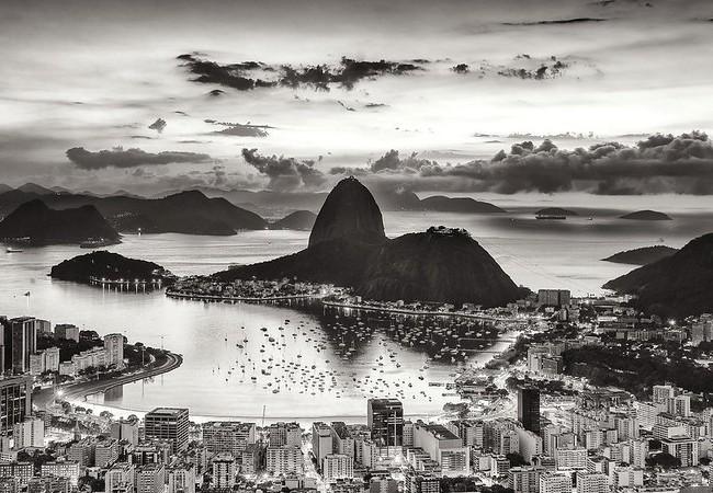 Sugarloaf and Botafogo Bay from Mirante Dona Marta, Rio de Janeiro, Brazil