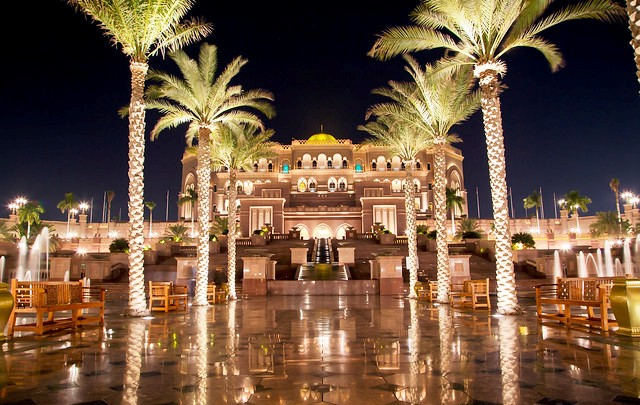 Emirates Palace at Night, Abu Dhabi, UAE