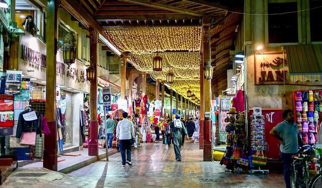 Exploring the Bur Dubai Textile Souk, Bur Dubai, Dubai, UAE