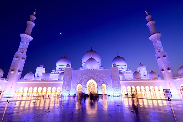 Sheikh Zayed Grand Mosque at Night, Abu Dhabi, UAE