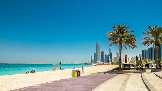 The Public Beach at the Corniche, Abu Dhabi, UAE