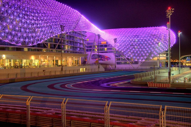 Yas Marina Circuit and Yas Hotel (now W Abu Dhabi), Yas Island, Abu Dhabi, UAE