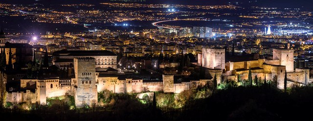 Alhambra by Night, Granada, Andalusia, Spain