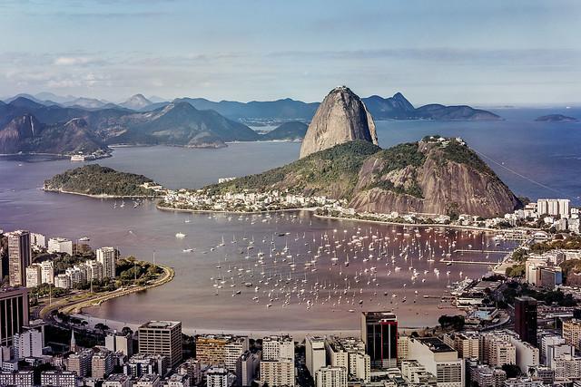 Botafogo Bay and Sugarloaf Mountain, Rio de Janeiro, Brazil