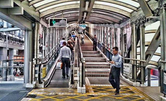 Central to Mid-Levels Escalator, SoHo, Hong Kong Island, Hong Kong, China